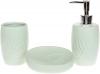 Набір аксесуарів Bright Листочок для ванної кімнати 3 предмети, м'ятний