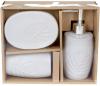 Набор аксессуаров Bright Листик для ванной комнаты 3 предмета, оловянный цвет