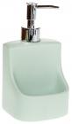 """Дозатор для мыла """"Mint"""" 9.8х9.5х18см с подставкой для губки (дозатор для моющего средства)"""