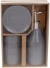 """Набор аксессуаров """"Grey"""" Bath для ванной комнаты: дозатор, стакан, мыльница"""