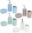 """Набор аксессуаров """"Плетенка"""" для ванной комнаты: дозатор, стакан и мыльница"""
