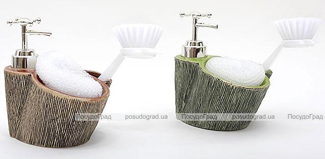 Дозатор Bona-103 для жидкого мыла с губкой и щеткой