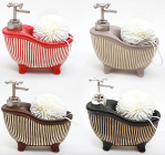 Дозатор Bona-104 для жидкого мыла с кухонной мочалкой