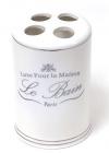 Подставка LE BAIN Ø7.6х11.7см для зубных щеток, фарфор