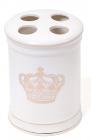 "Подставка ""Золотая Корона"" Ø8.5х11.5см для зубных щеток, фарфор"