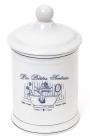 Ємність LE BAIN Silver Ø10.5х18.5см для засобів гігієни, фарфор