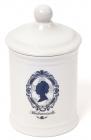Емкость Mademoiselle Ø10.5х18.5см для гигиенических принадлежностей, фарфор