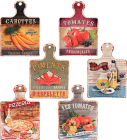 "Подставка под горячее ""Les Tomates"" 13.5х18.5см в форме досочки"