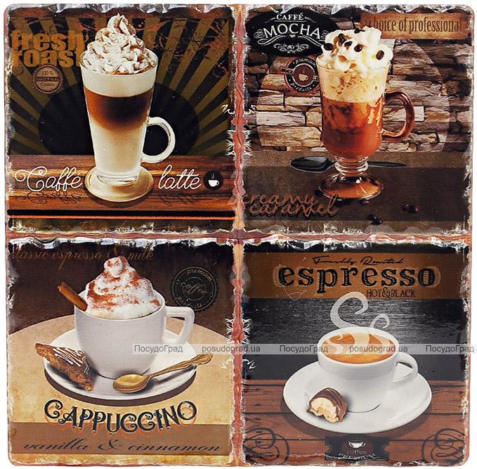 """Подставка под горячую посуду """"Espresso"""" керамическая 16х16см"""