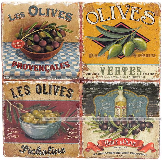 """Подставка под горячую посуду """"Olives"""" керамическая 16х16см"""