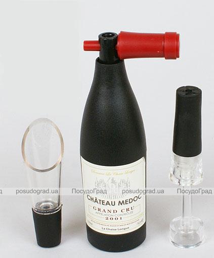 Набор сомелье Wine Story: штопор, пробка и лейка