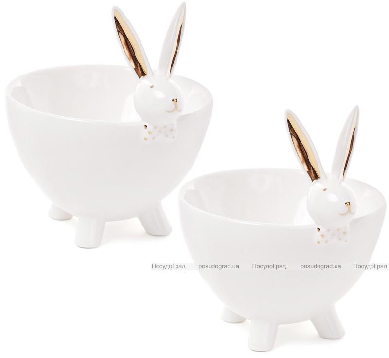 """Набор 2 пиалы """"Кролик с бабочкой"""" 14х12х15.4см, фарфор"""