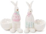 """Статуетка-підсвічник """"Кролик біля розбитого яйця"""" 10.2х6.5х11.8см"""