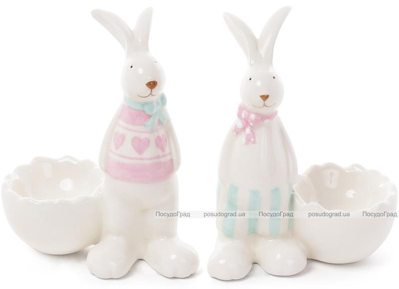 """Статуэтка-подсвечник """"Кролик у разбитого яйца"""" 10.2х6.5х11.8см"""
