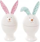 """Підставка для яйця """"Зайчик з кольоровими вушками"""" 15см, кераміка"""
