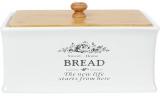 Хлібниця керамічна Sweet Home BREAD 32х18.5х18.5см з дерев'яною кришкою