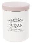 Банка керамічна Sweet Home SUGAR 600мл для зберігання цукру, рожева кришка