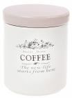 Банка керамічна Sweet Home COFFEE 750мл для зберігання кави, рожева кришка