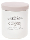 Банка керамическая Sweet Home COFFEE 750мл для хранения кофе, розовая крышка