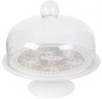 Блюдо-тортовница Sweet Home CAKE Ø25см со стеклянной крышкой- колпаком