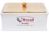 """Хлібниця керамічна """"Тоскана"""" Family BREAD 32х18.5х18.5см з дерев'яною кришкою"""