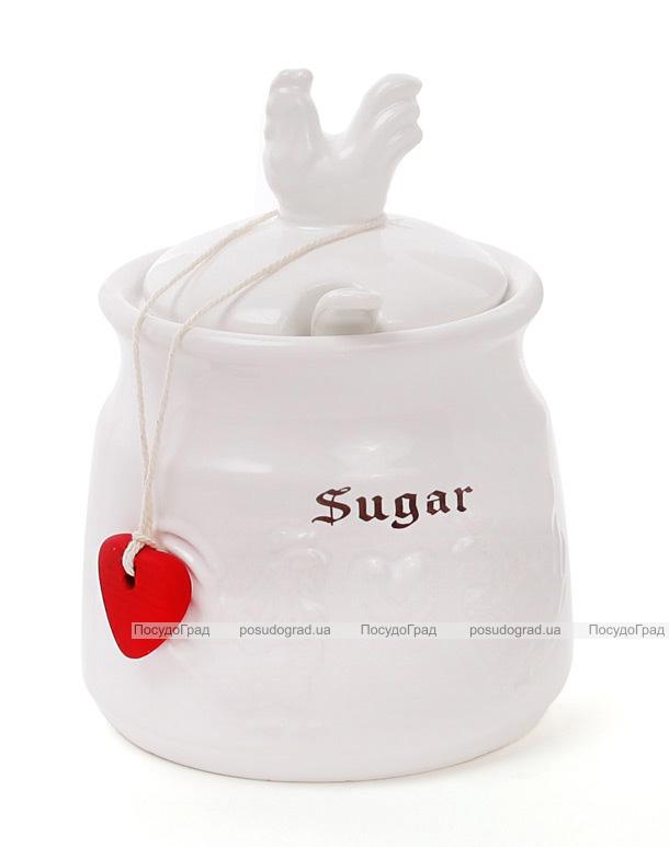 """Сахарница """"Тоскана"""" Family SUGAR 300мл с порционной керамической ложкой"""