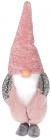 Мягкая игрушка «Гномик Тиффани» 22х16х57см, розовый с серым