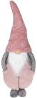 Мягкая игрушка «Гномик Тиффани» 28х21х78см, розовый с серым