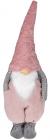 Мягкая игрушка «Гномик Тиффани» 31х25х95см, розовый с серым