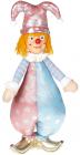 М'яка іграшка «Клоун Тіффані» 22х14х47см, рожевий з блакитним