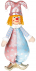 Мягкая игрушка «Клоун Тиффани» 22х14х47см, розовый с голубым