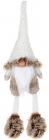 Мягкая игрушка «Гномик White&Brown» 12х9х42см, сидячий