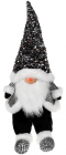Мягкая игрушка «Гном Black&White» 22х16х64см в пайетках, сидячий