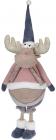 Мягкая игрушка «Лось Джейкоб» 30х28х85см, розовый с синим