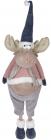 Мягкая игрушка «Лось Джейкоб» 36х35х117см, розовый с синим