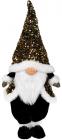 Мягкая игрушка «Гном Black&White» 22х16х55см в золотых пайетках