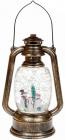 """Новогодний декоративный фонарь """"Трио снеговиков"""" 24см с LED подсветкой, подвесной"""