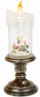 """Новорічний декоративний ліхтар """"Палаюча свічка"""" 27см з LED підсвічуванням"""