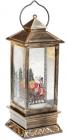 """Новогодний декоративный фонарь """"Санта на санях"""" 28см с LED подсветкой, подвесной"""