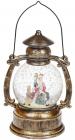 """Новогодний декоративный фонарь """"Санта с оленем"""" 20.5см с LED подсветкой, подвесной"""