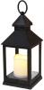 """Декоративний ліхтар """"Нічний вогник"""" з LED підсвічуванням 10.5х10.5х24см"""
