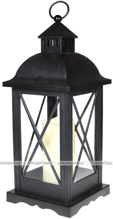 """Декоративний ліхтар """"Нічний вогник"""" з LED підсвічуванням 24х24х58.1см"""