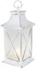 """Декоративный фонарь """"Ночной огонек"""" с LED подсветкой 13.5х13.5х32см, белый"""