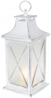 """Декоративний ліхтар """"Нічний вогник"""" з LED підсвічуванням 13.5х13.5х32см, білий"""