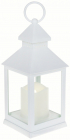 """Декоративний ліхтар """"Нічний вогник"""" з LED підсвічуванням 10.5х10.5х24см, білий"""