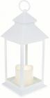 """Декоративний ліхтар """"Нічний вогник"""" з LED підсвічуванням 13.5х13.5х31.5см, білий"""