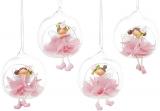 """Декоративна підвіска """"Квіткова фея в кулі"""" 9х8х10см, в рожевому"""