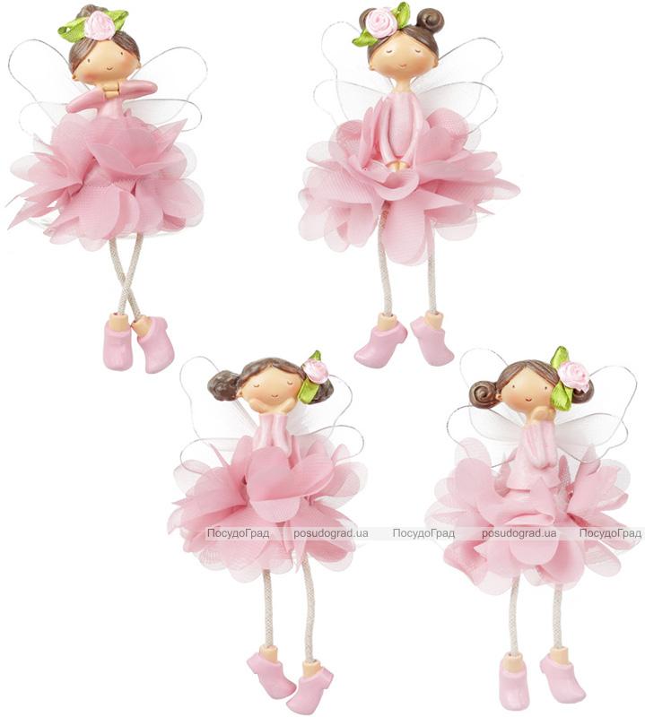 """Декоративная статуэтка """"Цветочная фея"""" 9.5см, в розовом"""