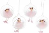 """Декоративна підвіска """"Дівча в кулі"""" 9х8х10см, в рожевому"""