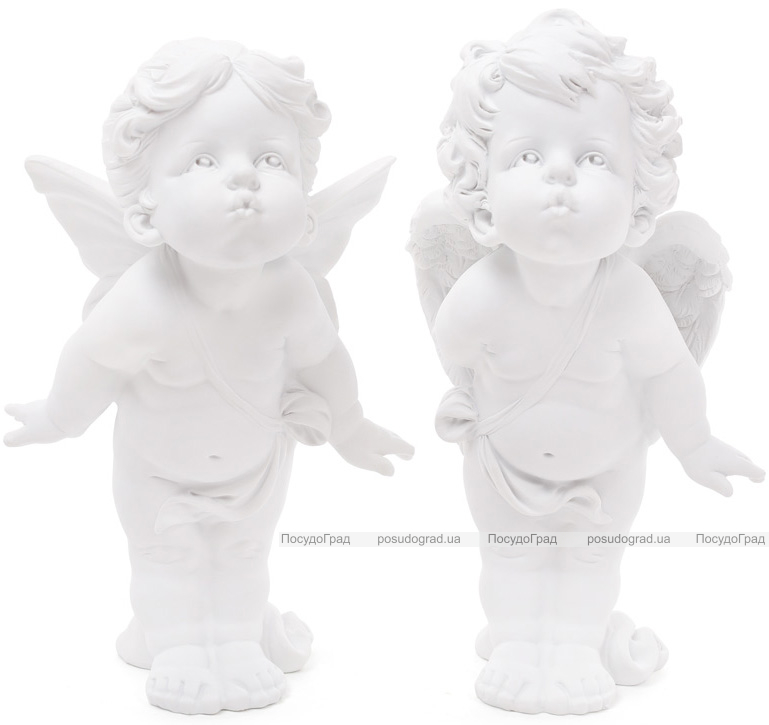 """Набор 2 декоративные статуэтки """"Целующиеся Ангелы"""" 28см"""